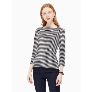 3/4 sleeve stripe everyday tee | Kate Spade New York