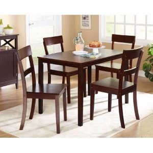 Beverly 5-Piece Dining Set, Multiple Finishes