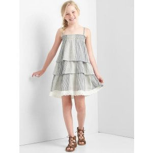 Stripe tier spaghetti dress