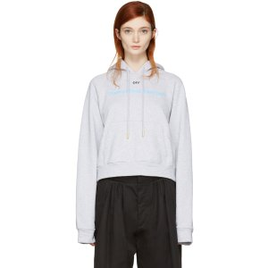 Off-White: Grey 'Something Special' Hoodie