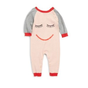 Baby's Sleeping Face Print Coverall