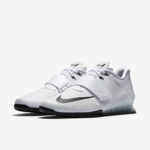 Nike Romaleos 3 - Men's - Training - Shoes - White/Black/Volt