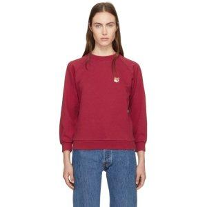 Maison Kitsuné - Red Fox Head Patch Sweatshirt