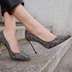Romy 100 Glitter Degrade Point Toe Pumps