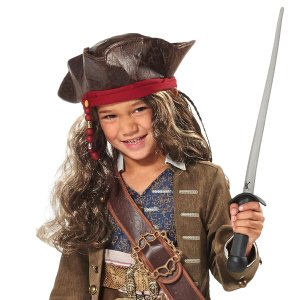 Jack Sparrow Pirate Hat and Wig for Kids - Pirates of the Caribbean: Dead Men Tell No Tales