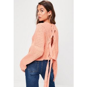 Missguided - Pink Slouchy Sweater