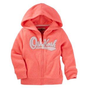 Kid Girl Neon Heritage Hoodie   OshKosh.com