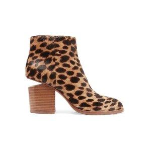 Gabi cutout leopard-print calf hair ankle boots | Alexander Wang