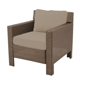 Hampton Bay Beverly Patio Deep Seating Lounge Chair with Beverly Beige Cushions-65-9102331B - The Home Depot