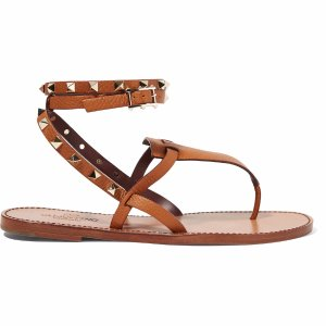 Rockstud leather sandals | Valentino | US | THE OUTNET