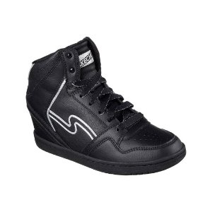 Skechers Black OG 80 Swag Wedge Leather Hi-Top Sneaker | zulily