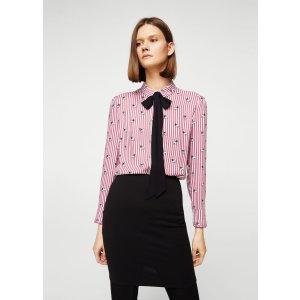 Bow printed shirt - Women