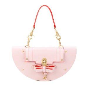 新款粉色半月包