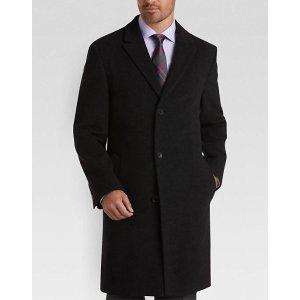 Calvin Klein Charcoal Classic Fit Car Coat - Men's Topcoats   Men's Wearhouse