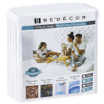 King Size Bedecor Mattress Protector - 100% Waterproof, Hypoallergenic - Premium Fitted Cotton Terry Cover - 10 Year Warranty