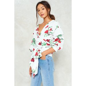 Take a Wrap Floral Top | Shop Clothes at Nasty Gal!