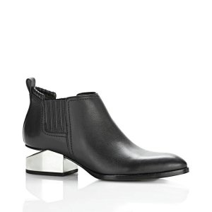 Alexander Wang早秋新款银色断跟靴