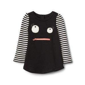 Halloween monster stripe dress