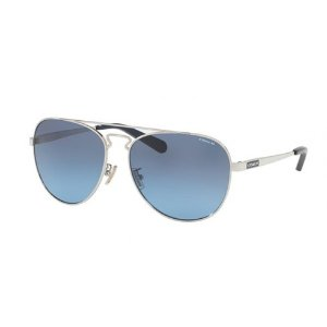 Coach Grey Blue Gradient Metal Aviator Sunglasses - Coach - Sunglasses - Jomashop