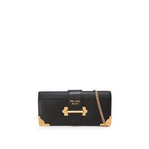 Prada City Calf Saffiano Cahier Bag