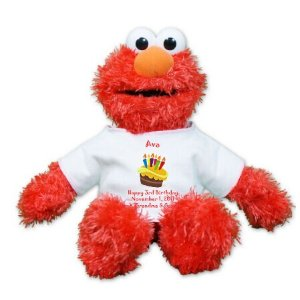 Personalized Birthday Cake Plush Elmo -12