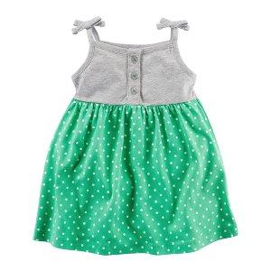 Baby Girl Polka Dot Jersey Dress   Carters.com