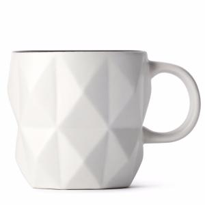 White Faceted Mug