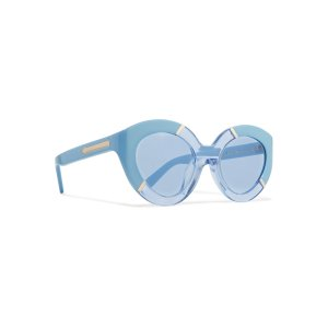 Poolside Flowerpatch cat-eye acetate sunglasses | Karen Walker