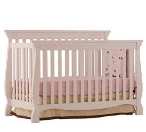 $152.99Stork Craft Venetian 4-in-1 Fixed Side Convertible Crib, White