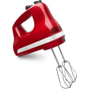 $32.95KitchenAid Ultra Power 5-Speed Empire Red Hand Mixer