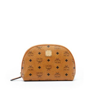Large Heritage Pouch in Cognac by MCM