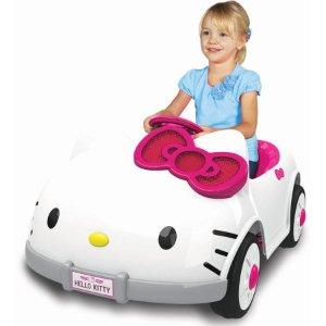 Dynacraft Hello Kitty 6V Battery Powered Ride On Car - Walmart.com