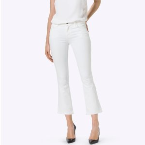 Selena Mid-Rise Crop Bootcut in Blanc | J Brand®
