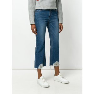 SJYP cropped destroyed jeans