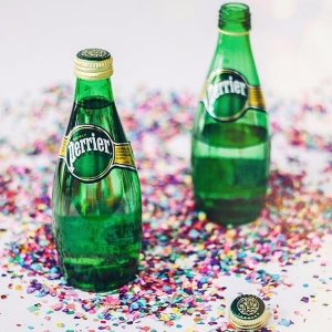 $12Perrier Sparkling Natural Mineral Water, Green Apple, 16.9 Ounce (Pack of 24)