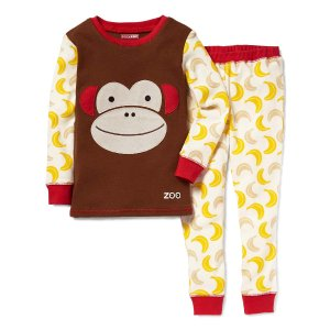 Skip Hop Brown Monkey Pajama Set - Toddler & Kids