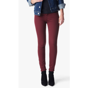 The Ankle Skinny Jeans in Cranberry Riche Sateen - 7FORALLMANKIND