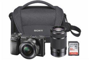 $699.99黒五价:Sony Alpha a6000 微单套装 带16-50mm&55-210镜头 + 32GB SD Card