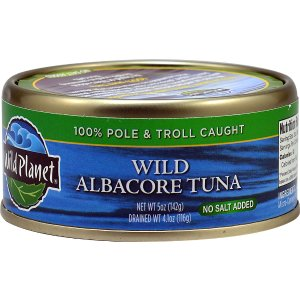 Wild Planet Albacore Wild Tuna No Salt Added -- 5 oz - Vitacost