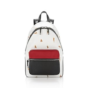 BERKELEY BACKPACK IN PEBBLED PEROXIDE WITH EMBROIDERED BIKINI BABES