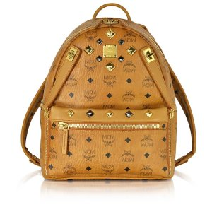 MCM Cognac Small Dual Stark Backpack