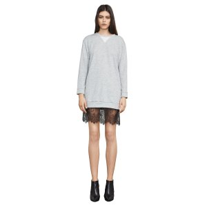 Whitnie Lace-Trim Sweatshirt Dress