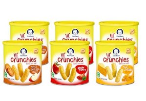 $10.93Gerber Graduates Lil' Crunchies Whole Grain Corn Snacks Variety Pack, 1.48-Ounce (Pack of 6) @ Amazon