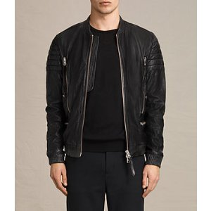 Sanderson Leather Bomber Jacket