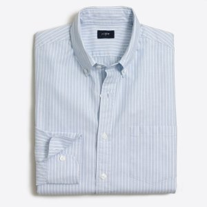 Striped washed shirt in end-on-end cotton : Authentic Washed | J.Crew Factory