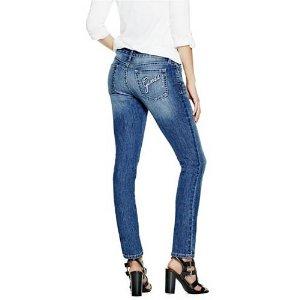 Elysia Rhinestone Skinny Jeans | GuessFactory.com