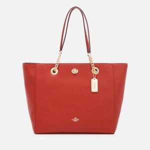 Coach Women's Turnlock Chain Tote Bag - Terracotta - Free UK Delivery over £50