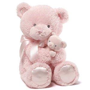 Amazon.com : Gund Baby Momma & Bear Rattle Plush, Pink, 15