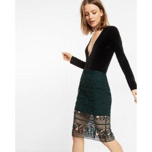 Crocheted Pencil Skirt   Express