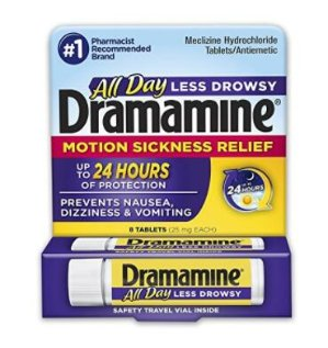 $3.97Dramamine Motion Sickness Relief Less Drowsey Formula, 8 Count